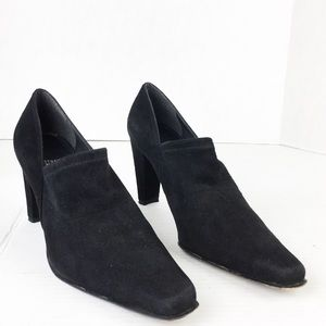 SZ 9.5 Suede Stuart Weitzman Pull On Ankle Booties
